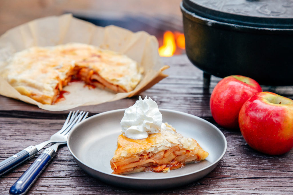 This apple pie is the ultimate of our favorites campfire desserts, campfire recipes, camp food, camping recipes