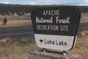 picture of a sign near Luna Lake